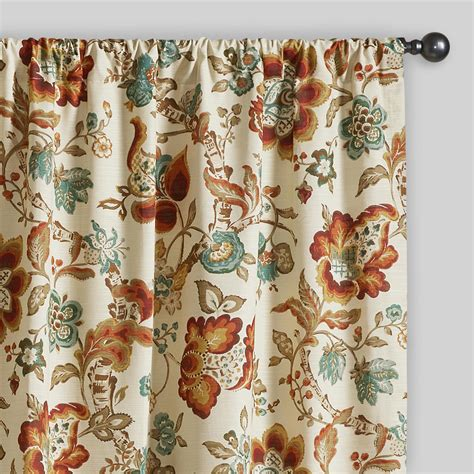 curtains world market multicolor floral malli sleevetop curtains set of 2
