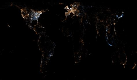 Light Pollution Map Usa Mapping The World With Twitter And Flickr Stikky Media Inc