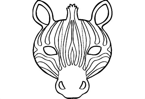 printable animal masks zebra animal mask template animal templates free premium