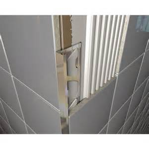 12mm l shape square bright silver chrome tile trim