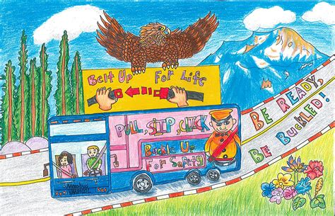 Drawing Contests For Kids To Win Money - be ready be buckled kids art contest federal motor