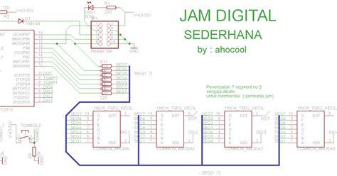 membuat jam digital sederhana dengan mikrokontroler attiny2313 jam sederhana dengan attiny 2313 cara mudah belajar