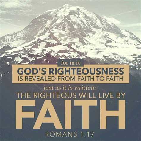 by faith romans 1 17 for therein is the righteousness of god