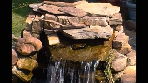 diy pond waterfall diffuser spillway youtube