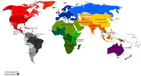 future world map maps world map future