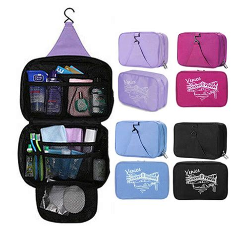 Portable Pouch Organizer Ukuran Sedang waterproof portable cosmetic bag multifunctional hanging travel toiletry bag organizer