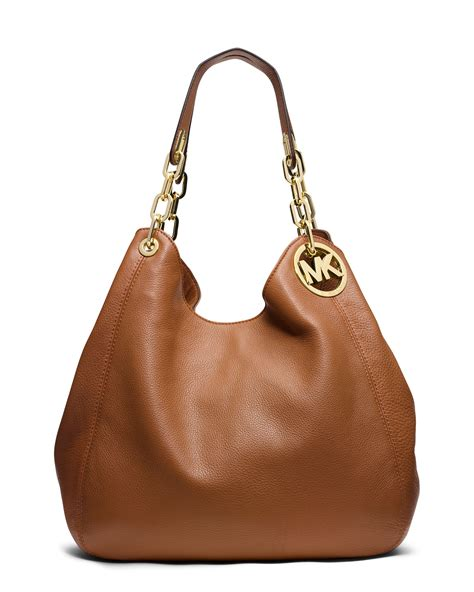 Michael Kors Fulton Lunggage michael kors michael large fulton shoulder tote in brown luggage lyst