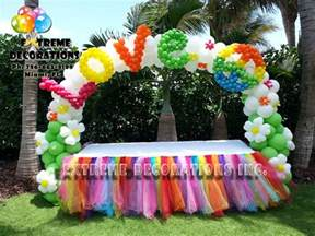 Tropical Theme Party Costume - extreme decorations did this beautiful and colorful peace amp love 60 s party decoration this