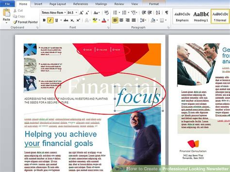 how to make a newsletter how to create a professional looking newsletter 4 steps