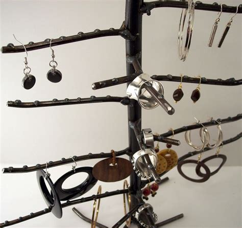 rings wire racks large earring and ring tree earring and ring display rack industreeal