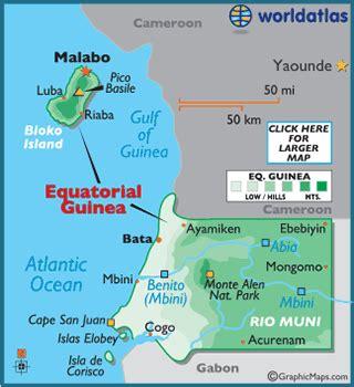 guinea ecuatorial map equatorial guinea map geography of equatorial guinea