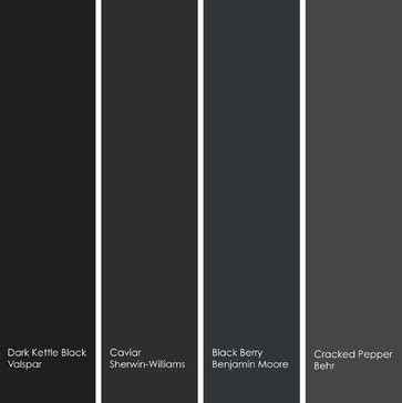 4 enticing black hues to try left to right 1 kettle black 4011 2 from valspar 2