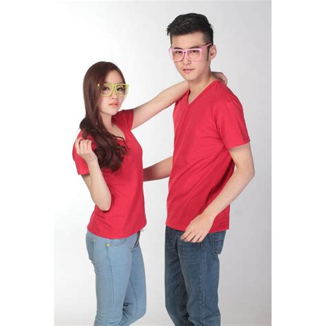 Kaos T Shirt Wanita Cewe Semangka kaos polos katun wanita v neck size l 81105 t shirt jakartanotebook