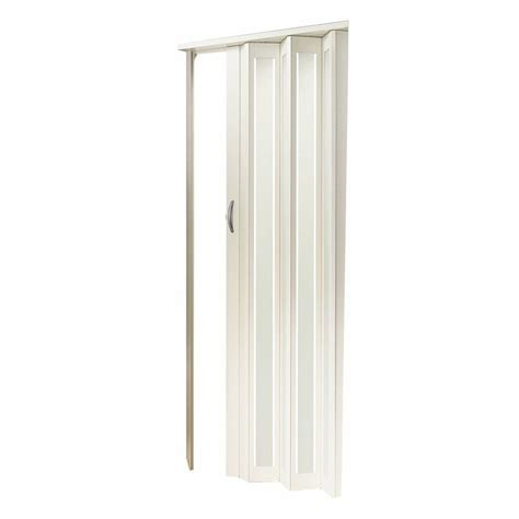 Spectrum Accordion Doors by Spectrum 32 In X 80 In Century White Turquoise Frosted