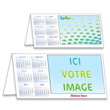 Calendrier Personnaliser Calendrier Chevalet 2018