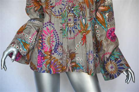 Blouse Batik Katun Premium Stretch Bl671 antik batik gorgeous floral bohemian multi color cotton blouse shirt top l ebay