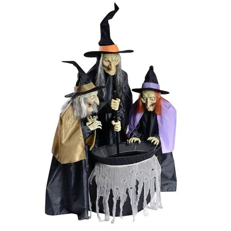 three witches decor home accents 75 in animated bewitching cauldron