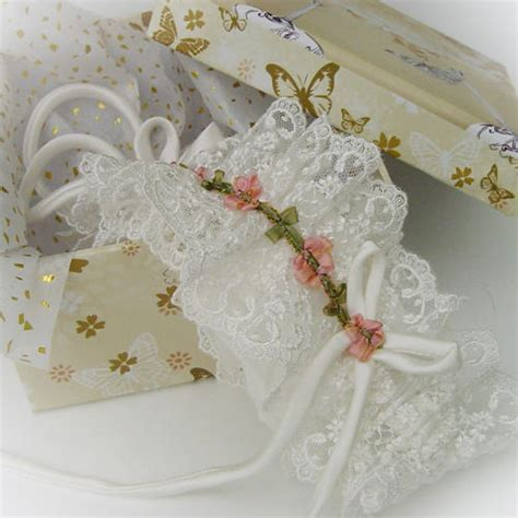 Wedding Garters by Wedding Garters Tulle And Nottingham Lace