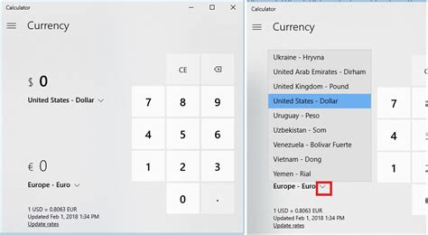 currency converter windows 10 how to use currency converter tool in windows 10