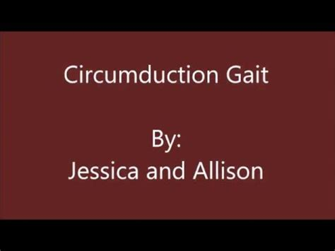 gait pattern youtube circumduction gait youtube