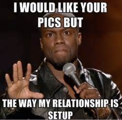 Funny Kevin Hart Meme - how men and women act on facebook and instagram funny