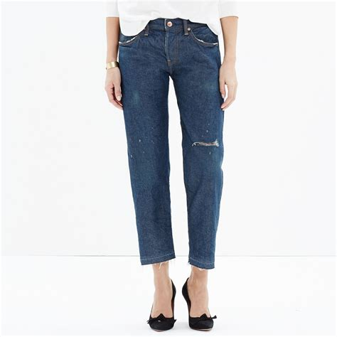 is madewell denim the best the small things blog madewell chimala 174 denim ankle jeans in blue lyst