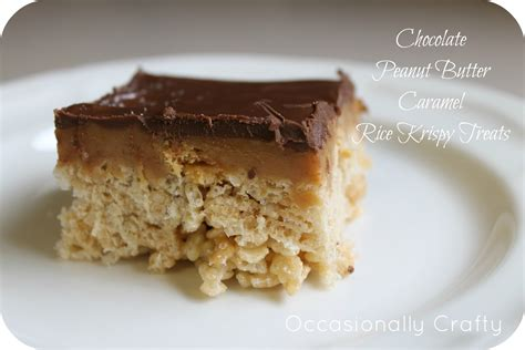peanut butter treats chocolate rice krispies treats recipe dishmaps