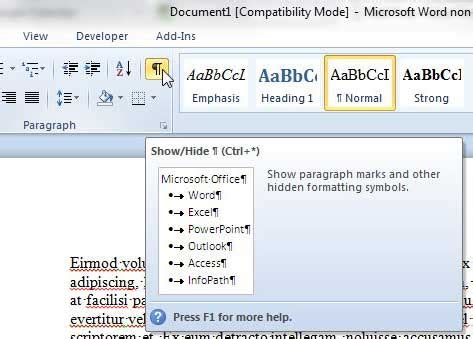 show section breaks in word how to remove a page break in word 2010 solve your tech
