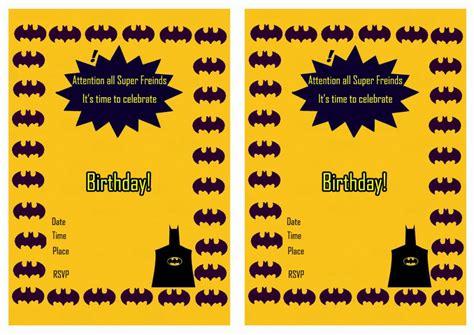 batman birthday invitations birthday printable