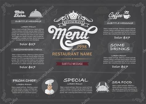 menu layout design free vector layout design menu restaurant template stock