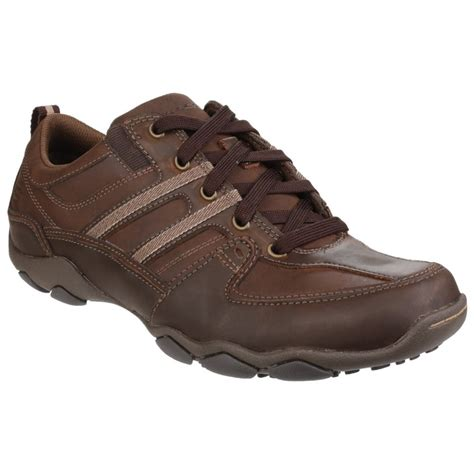 skechers diameter selent lace up brown shoes shoes