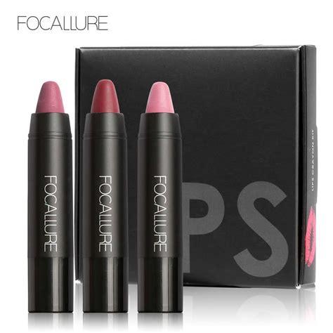 Color Matte Lip Gummy focallure 3pcs matte lip crayon high quality with