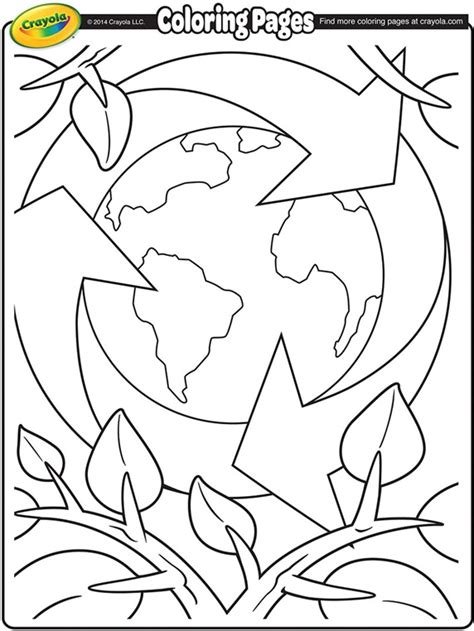 earth day coloring pages for adults earth day recycling coloring page crayola com