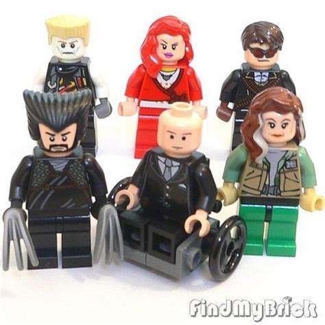 Lego Minifigure X Professor Profesor X Bootleg lego 6x custom cyclops professor x rogue wolverine minifigues new