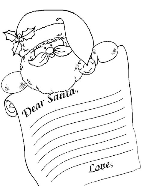 letter to santa template colour in thanksgiving coloring pages free letters from santa by
