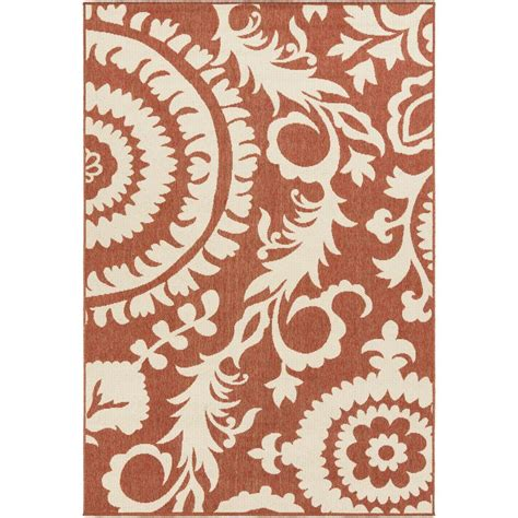 Home Depot Large Area Rugs Artistic Weavers Big Pine Cherry 5 Ft 3 In X 7 Ft 6 In Indoor Outdoor Area Rug S00151001505