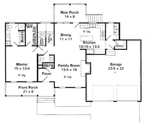open floor plan farmhouse plans farmhouse with an open plan 8765gm 1st floor master