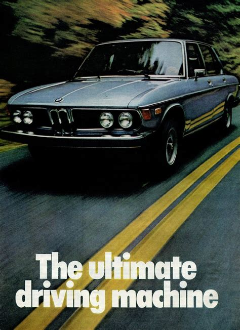 is bmw the ultimate driving machine bmw ad with slogan the ultimate driving machine from