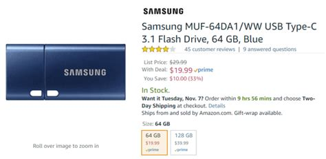 deals alert 10 under items on amazon without prime deal alert samsung 64gb and 128gb usb c flash drives