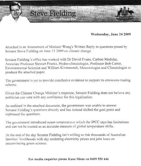 Release Letter Due Diligence Report The Wong Fielding Meeting On Global Warming Documents 171 Jonova