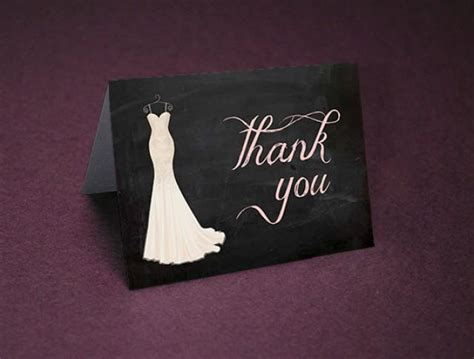 Bridal Shower Thank Yous by Bridal Shower Thank You Cards Chalkboard Shower Thank Yous Bridal Shower Thanks Wedding