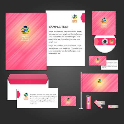 corporate id card template corporate identity templates free vector in adobe