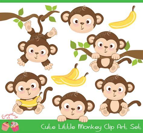 Monkey Set 1 monkey clipart set