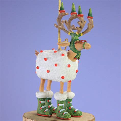 patience brewster dash away mini blitzen ornament