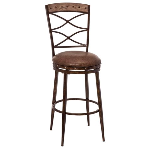 Design Swivel Counter Chair Hillsdale Emmons Swivel Counter Stool With X Design Conlin S Furniture Bar Stools
