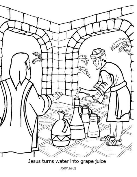 wedding at cana coloring page az coloring pages