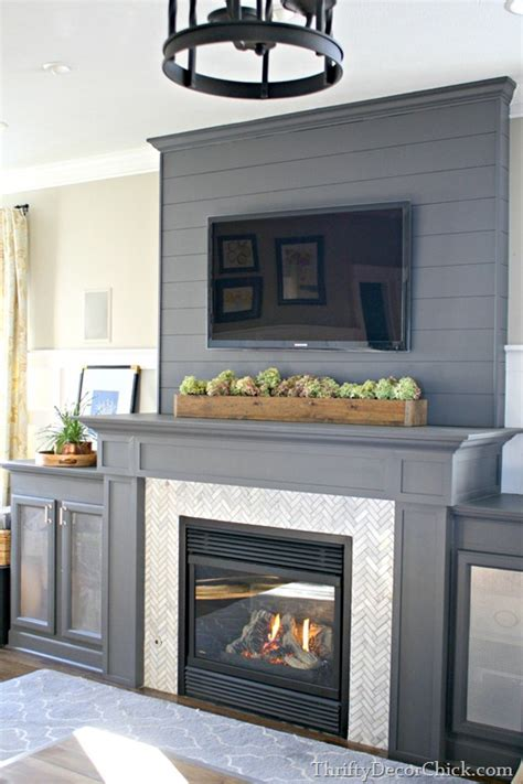 Tongue And Groove Fireplace by Tongue And Groove Herringbone Pattern Built Ins Home