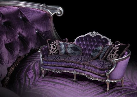 Louis Style Armchair Sofa With Silver Finishings Louis Xv Style Idfdesign