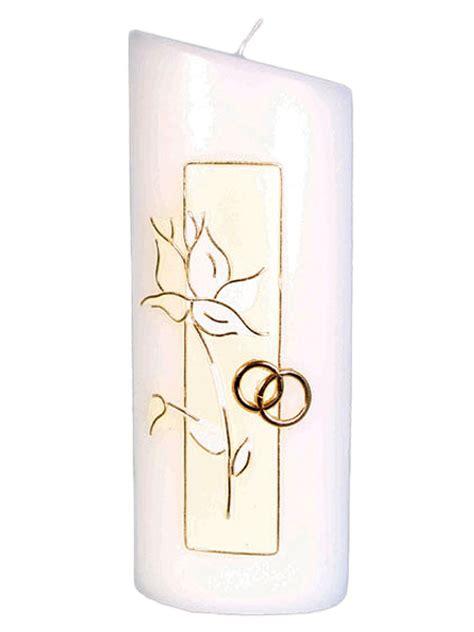 candela matrimonio candela matrimonio con decoro rosa e fedi rilievo in