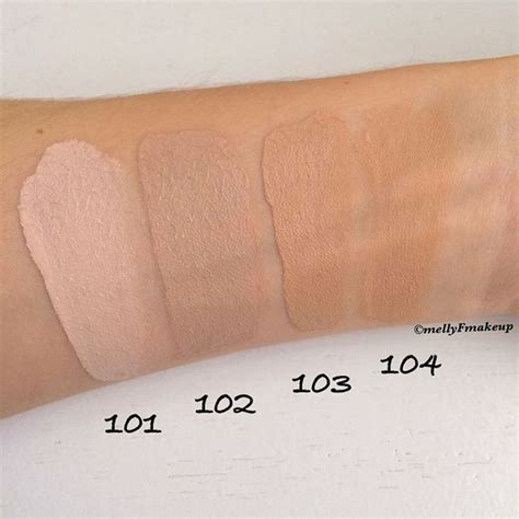 Tip Spuit No 102 No 104 loreal infallible makeup shades mugeek vidalondon